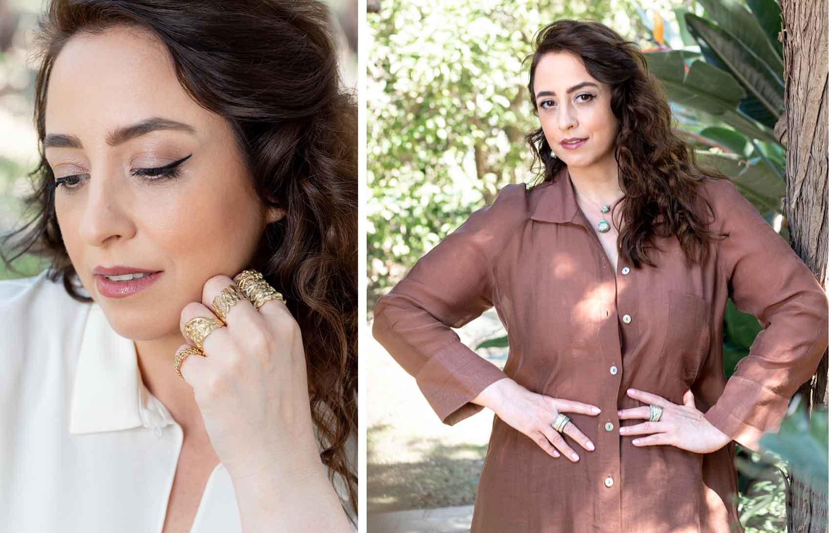 מגזין-אופנה-אונליין-  Anat Eyal Design. טלי ארבל עונדת משמאל את הטבעת המלכותית, צילום: שלי פדן-לורבר