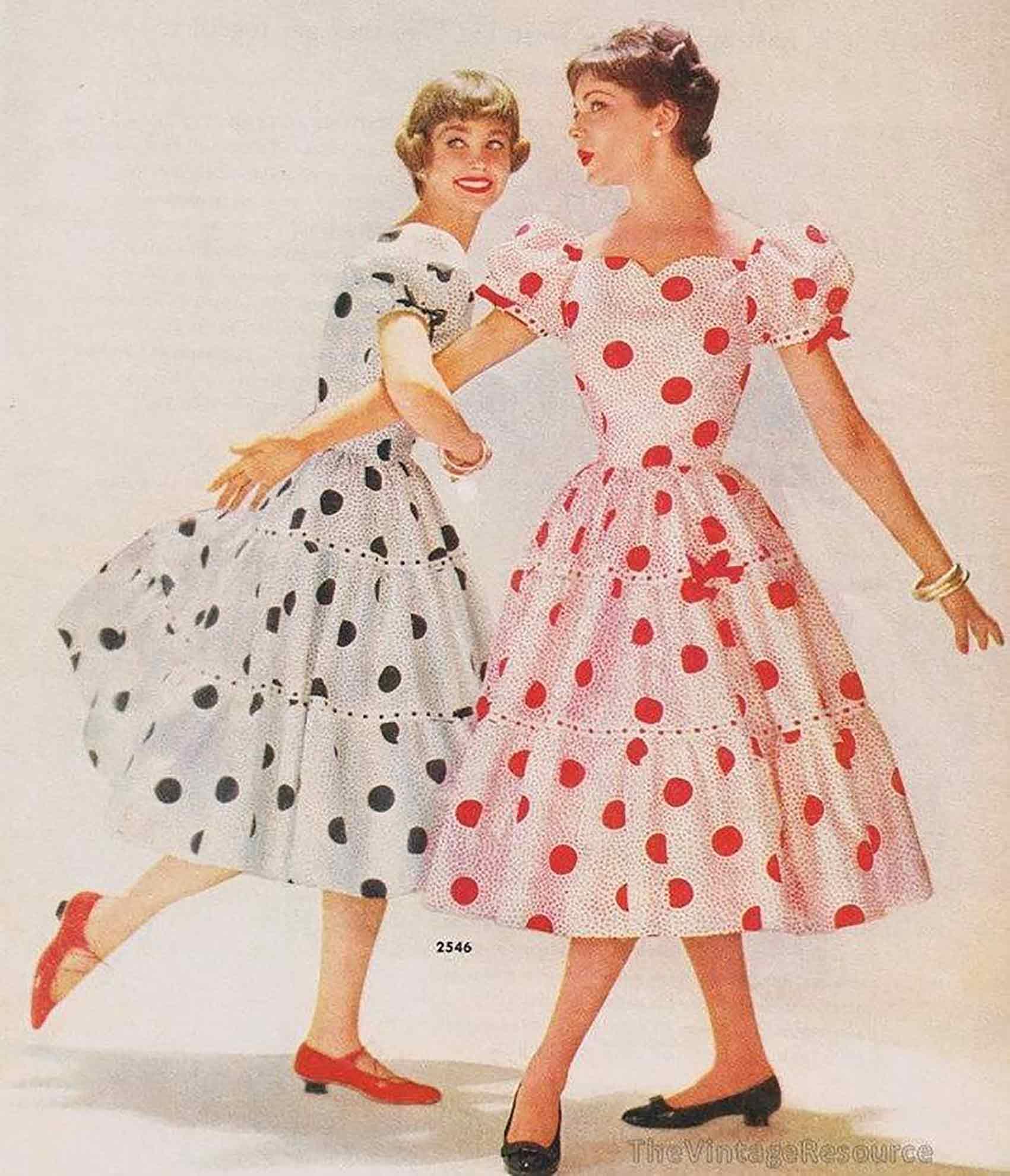שמלות-פולקה-שנות-ה--50-אופנה