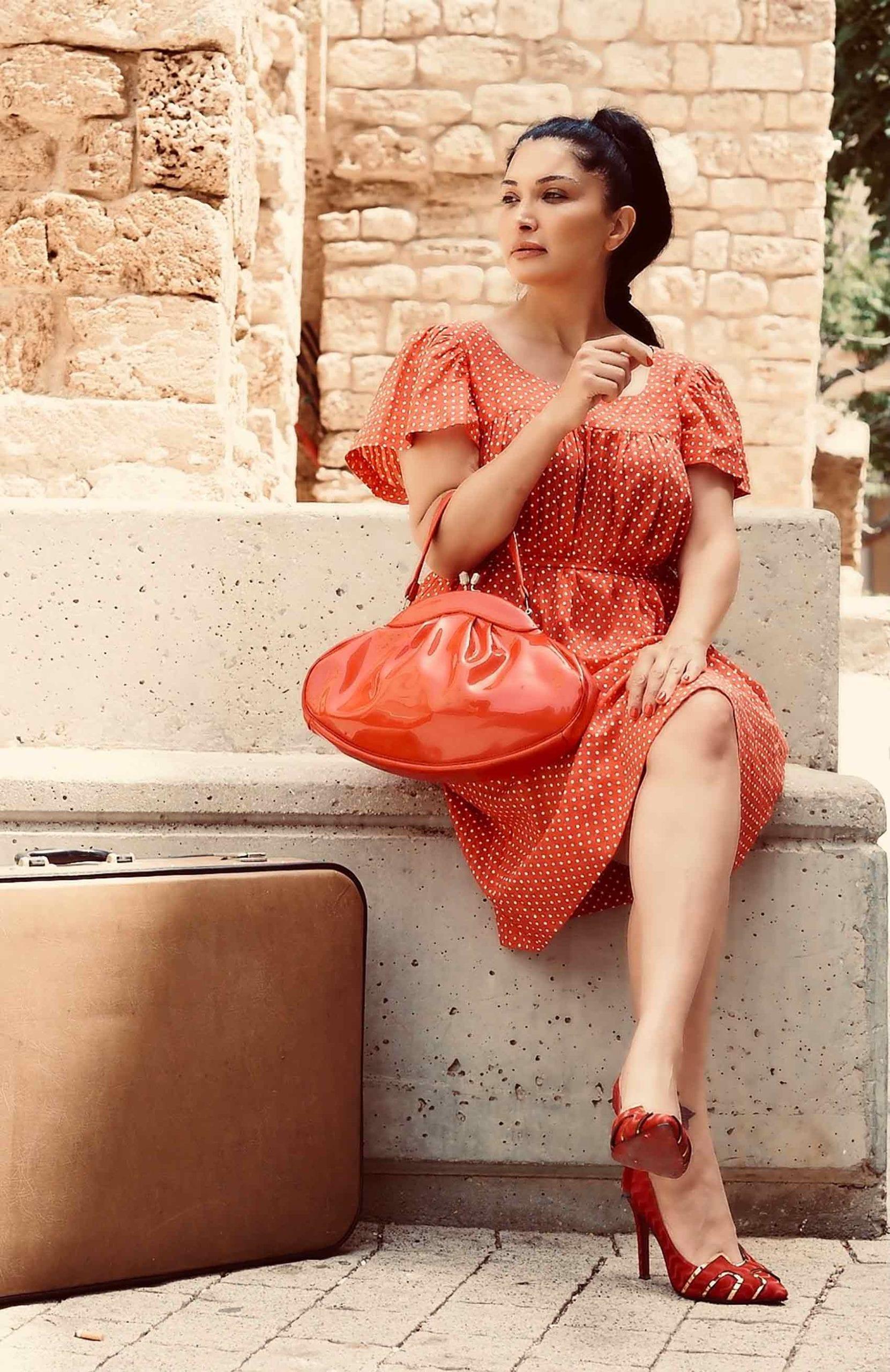 שמלת-פולקה-לוני-וינטג'-צילום-Kim-kandler-אופנה