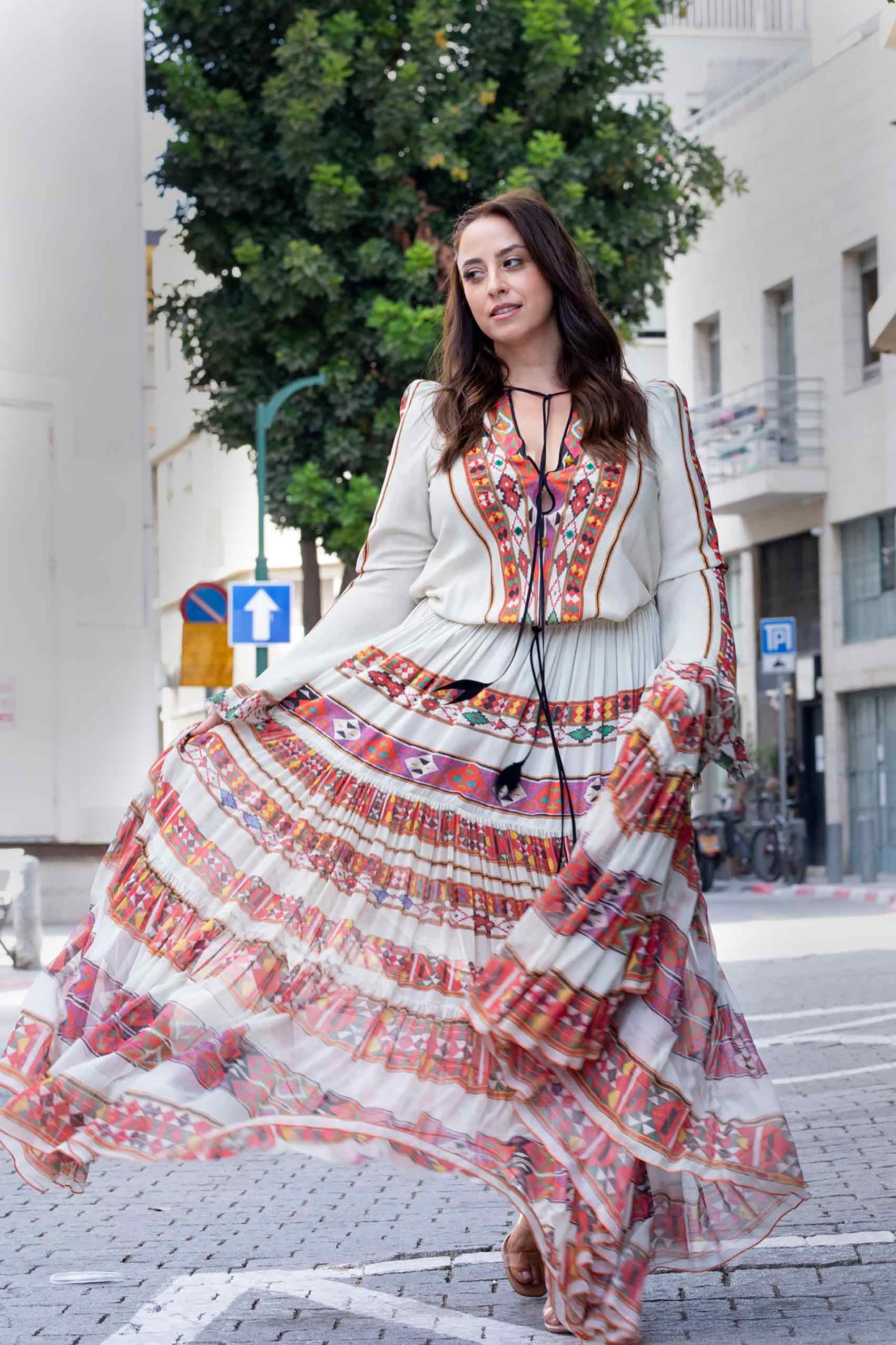כתבות-אופנה-טלי ארבל לובשת ויוי בלאיש, צילום: שלי פדן-לורבר