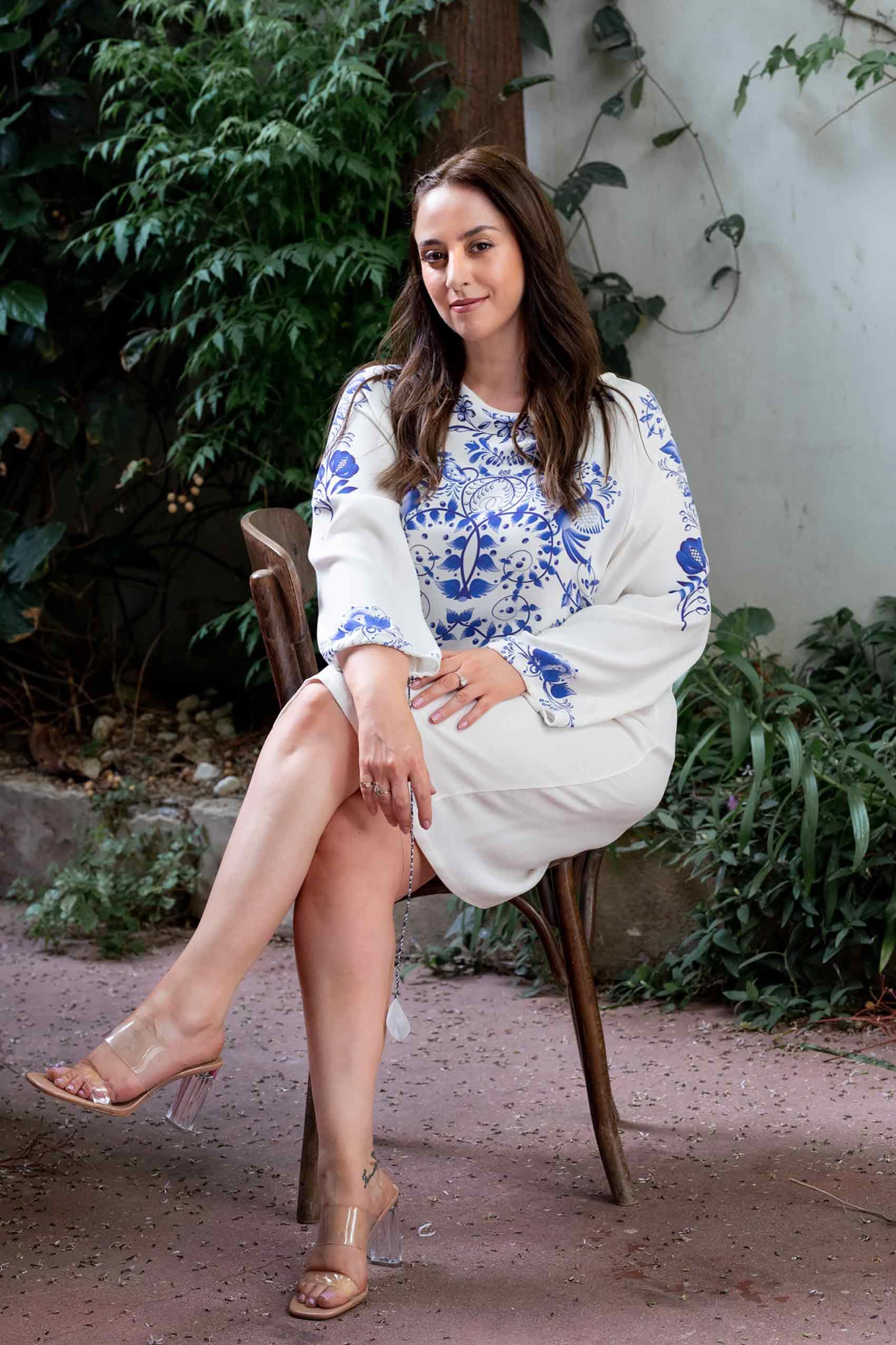 אופנה-ישראלית-טלי ארבל לובשת ויוי בלאיש, צילום: שלי פדן-לורבר-אופנה