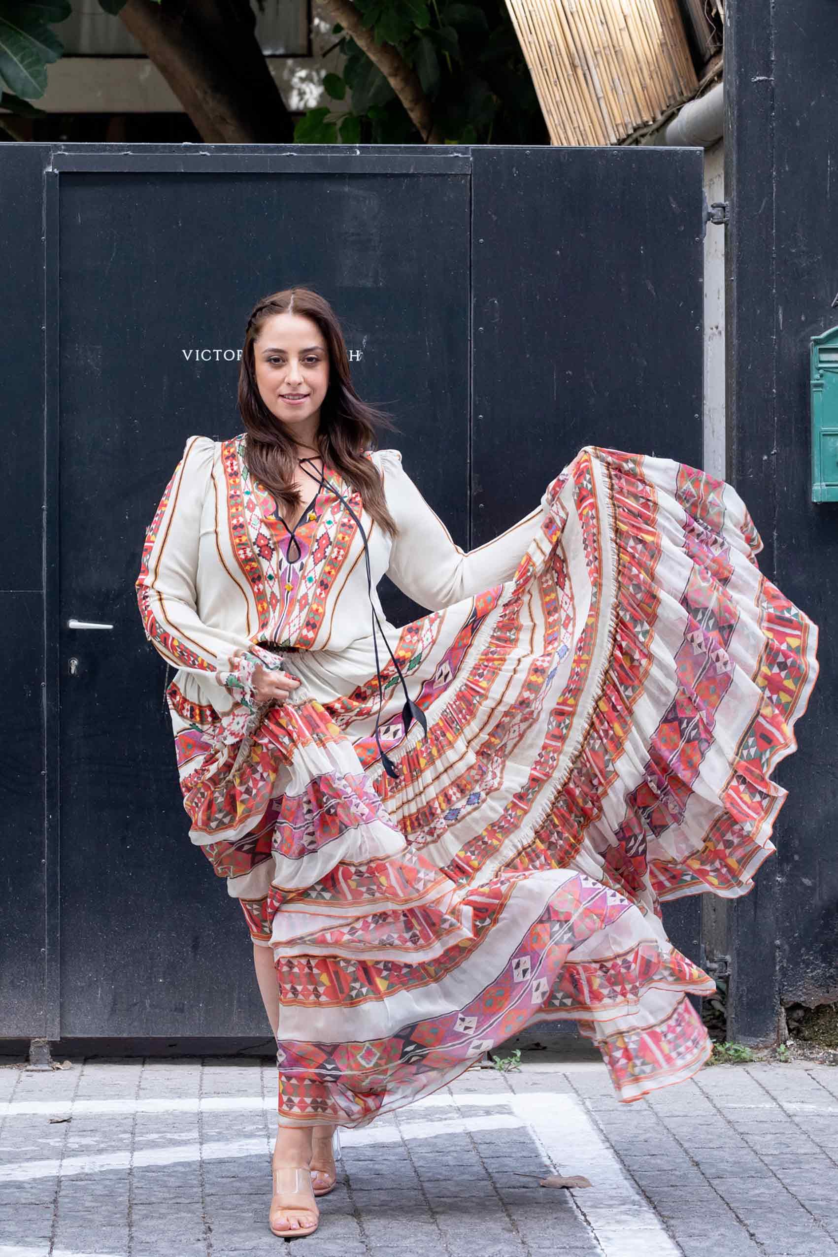טלי ארבל לובשת ויוי בלאיש, צילום: שלי פדן-לורבר- אופנה-