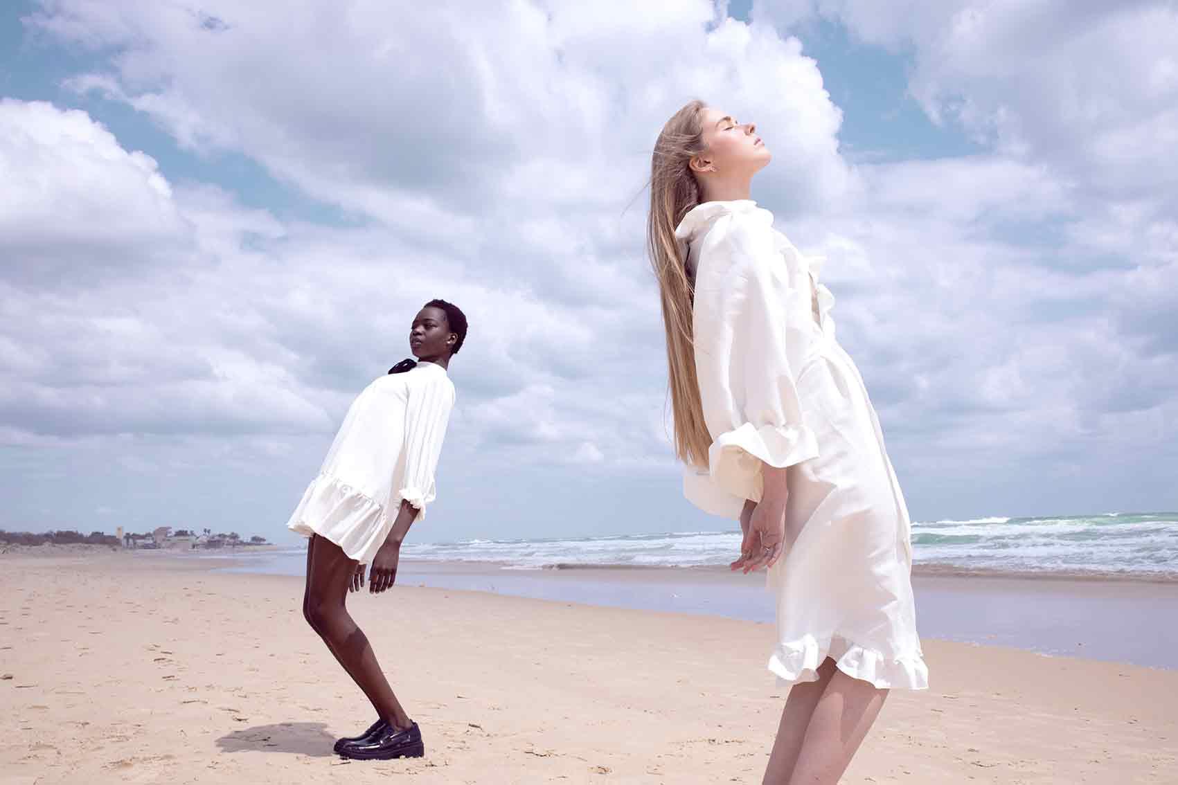 Photographer: YAEL BAR, Models: RITA AUGUSTINO, POLINA RIA, Makeup: AREEG GH, Stylist: BAR FRIEDMAN, Designers: BOOBA MACHO, MONALIZABETH-אופנה