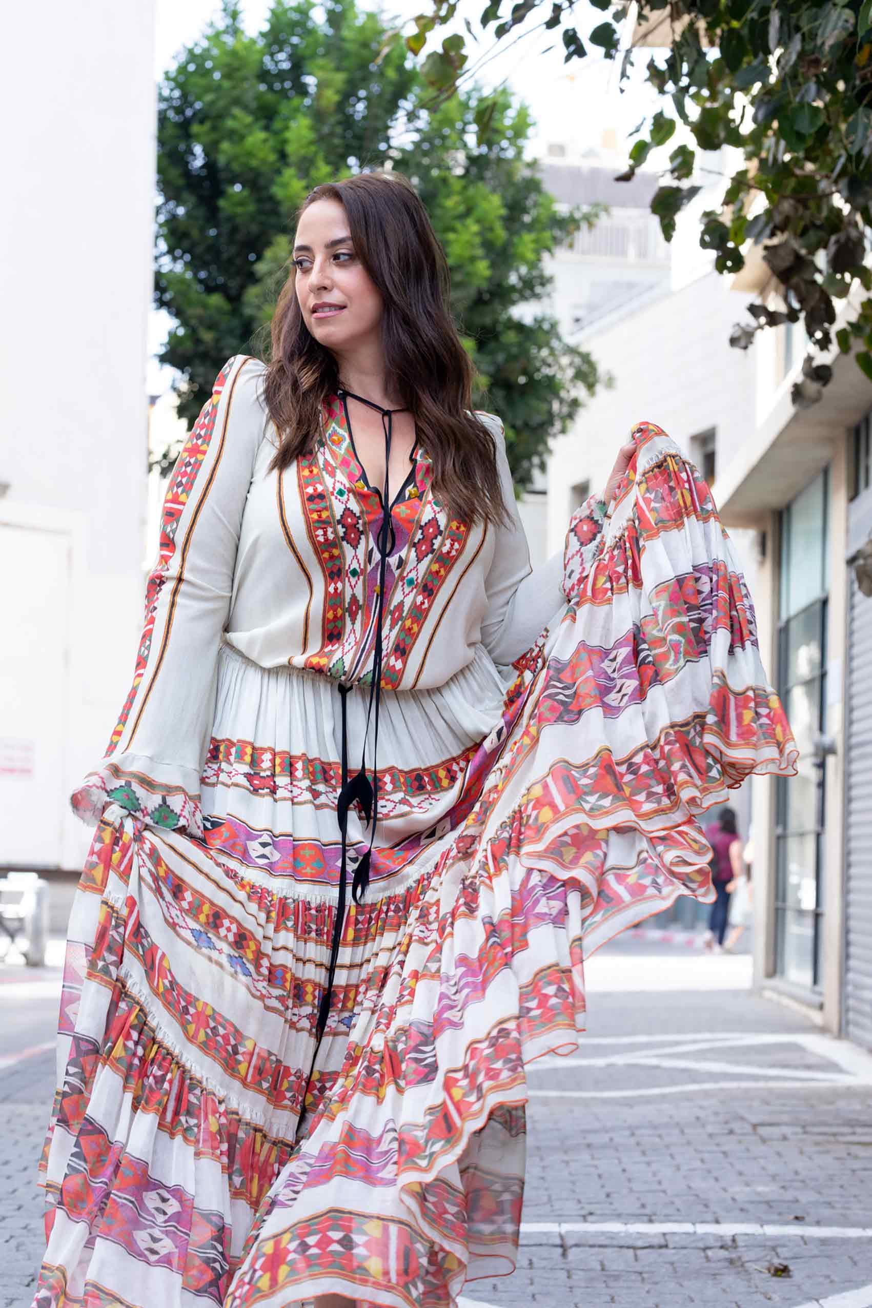 אופנה-טלי ארבל לובשת ויוי בלאיש, צילום: שלי פדן-לורבר-אופנה