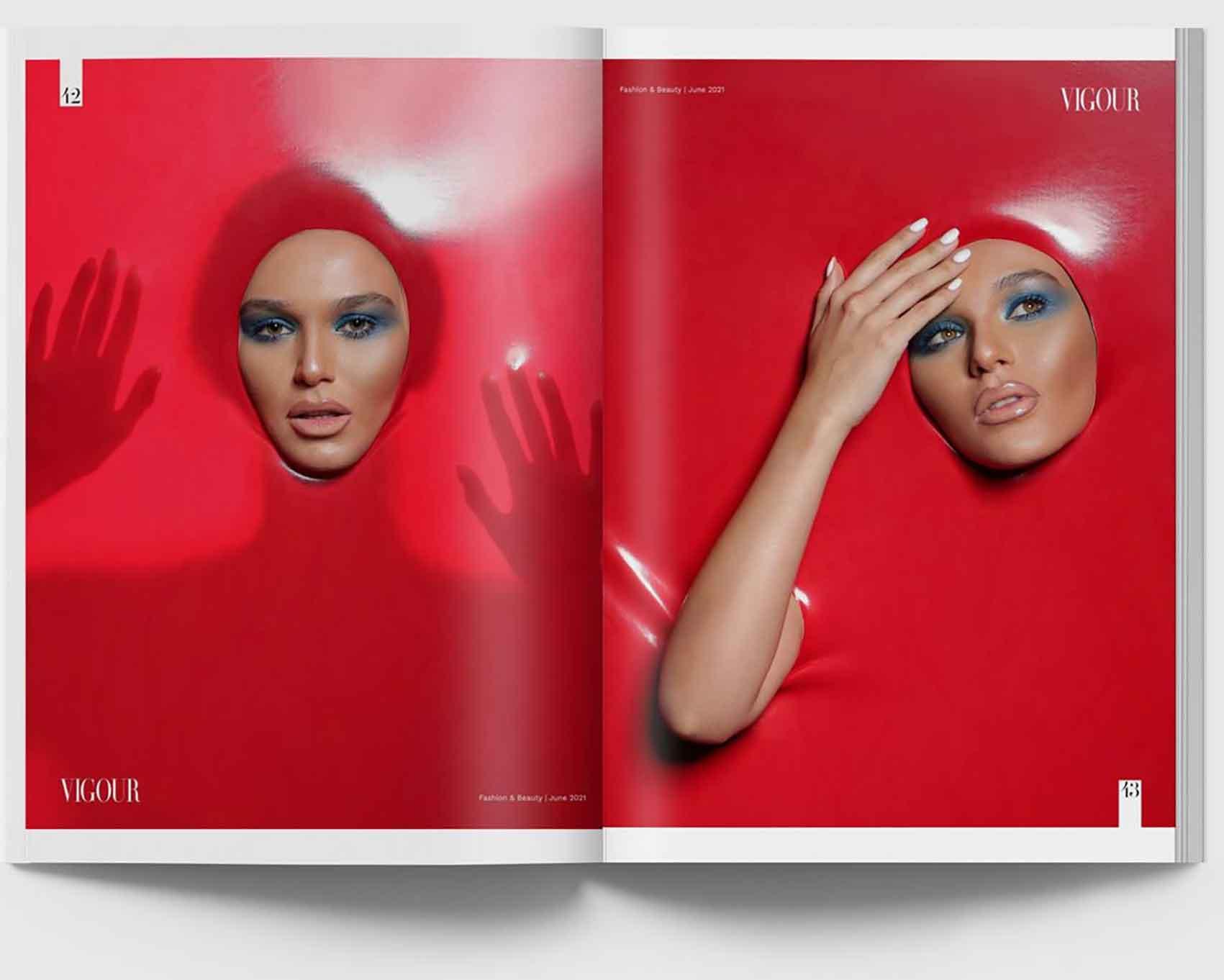 מתוך מגזין האופנה הקנדי, איפור ירין שחף, צילום מריה סלוביוב - 2